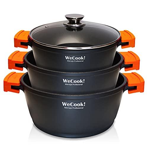 WECOOK! EcoChef Titanio Batería Cocina Inducción 6...