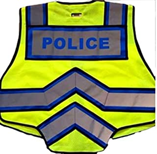 FIRE NINJA POLICE VEST-Class 2 Reflective - High Visibility Public Safety Vest - Bright Neon Reflective Colors - Double Breakaway Zipper - For Police and Public Safety Departments.