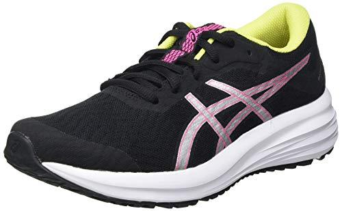 Asics Patriot 12, Road Running Shoe Mujer, Black/Hot Pink, 38 EU
