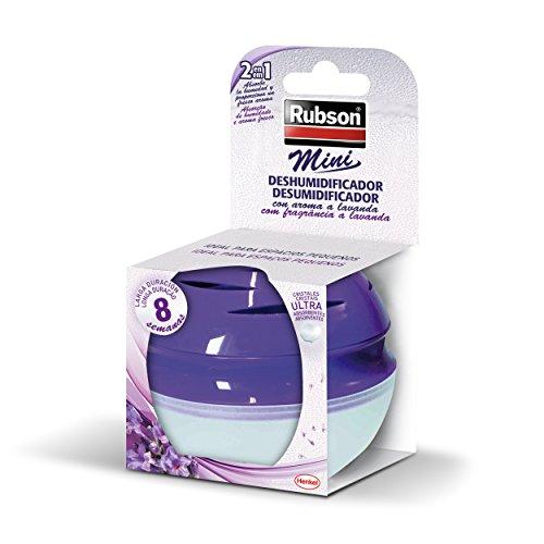 Rubson Mini deshumificador mini ideal para espacios pequeños con fragancia a lavanda de laga duración, morado
