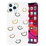 Yoedge Funda de Silicone para Apple iPhone SE 2020/7 / 8 (4,7'), Mate Blanco Silicona TPU Moda Dibujos Carcasa, Suave Antigolpes Bumper Protectora Case para iPhone 7 - Cara Sonriente