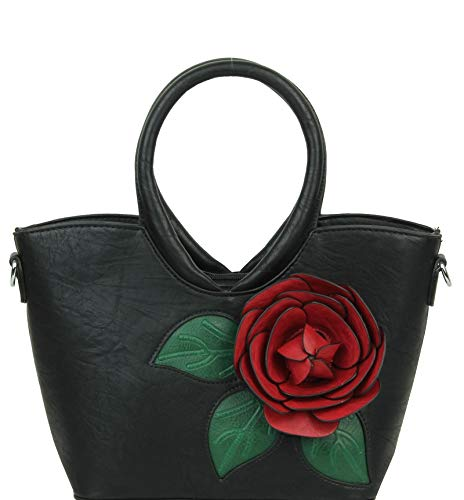New Women Unique 3D Rose Flower Style Small Tote Shoulder Handbag Perfect For Summer Season
