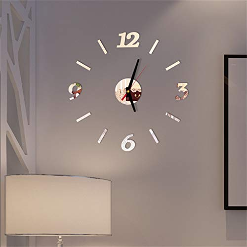 OSYARD DIY Wanduhr, Moderne Mute 3D Aufkleber Wanduhren Acryl Wandtattoos Uhren für Nach Hause, Restaurant, Büro und Hotel Decor Geschenk Quarzuhr