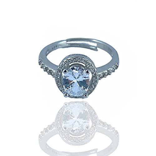 Anillo Kate Middleton de mujer de plata 925 ajustable anillo con piedra verde anillo de compromiso mujer idea regalo joyas mujer anillo Simmi joyas