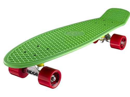 Ridge Skateboard Big Brother Nickel 69 cm Mini Cruiser, grün/rot