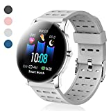 Fitness Tracker - Activity Tracker with Heart Rate Monitor - Waterproof Smart Watch with Step Counter -...