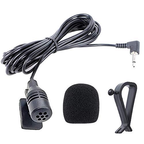 NewTH Mikrofon 2.5 mm Externes Mic für Pioneer Auto Radio Fahrzeug Haupteinheit Bluetooth Audio Stereo DVD GPS, Plug & Play (9.85 FT)