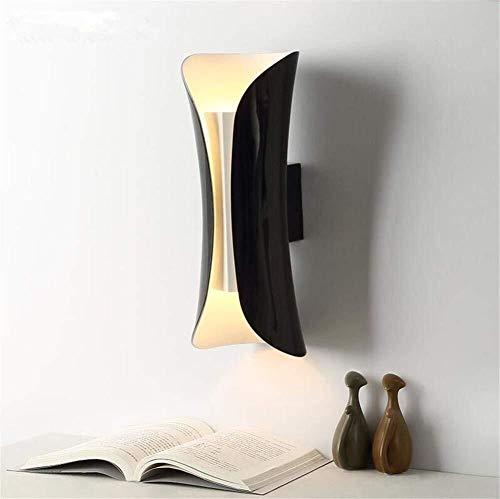 ZHENYUE Zhenyue luces de la pared ® ligero de la pared moderna E27 Negro Revestimiento del bicarbonato de pintura en forma de hierro Lámpara de pared Lámpara de pared creativo del arte de lect