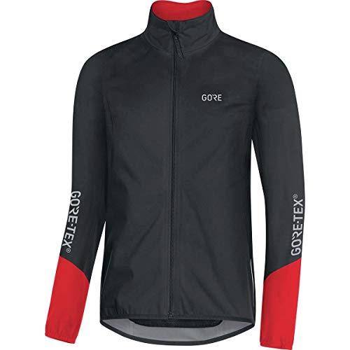 GORE Wear C5 Herren Fahrrad-Jacke GORE-TEX, XXL, Schwarz/Rot