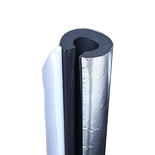 GEREP Tubo Isolante Autoadesivo Isolante per Tubature, Foil Backed Pipe Wrap, Spessore Parete 10/20/30 mm Isolamento Tubi Condizionatore/Wall Thickness 10mm / ID34mm