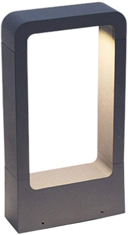 Sockelleuchte LED 10W Auen Wasserdichte U-Typ Aluminium Glas Wegeleuchte Grau Auenleuchte Innenhfe Pfad Lichter Garten Rasen Garage Landschaft 3000K Pollerleuchten Wegelampe H30cm