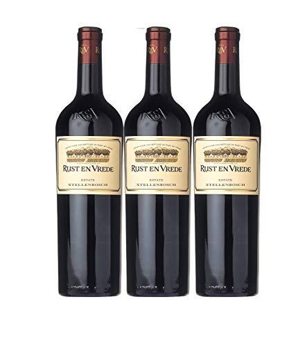 Rust en Vrede Estate Stellenbosch Rotwein Wein trocken Cabernet Sauvignon Merlot Shiraz Südafrika (3 Flaschen)
