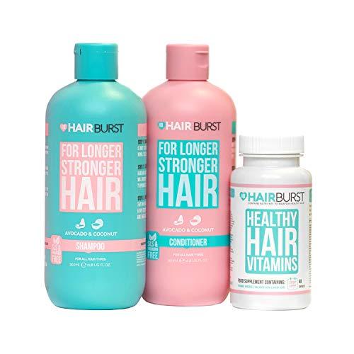 Hairburst Shampoo, Conditioner & Original Vitamin Bundle - All Natural Hair Growth Vitamins - Hair Growth and Anti Hair Loss Shampoo and Conditioner - For Longer, Stronger Hair.