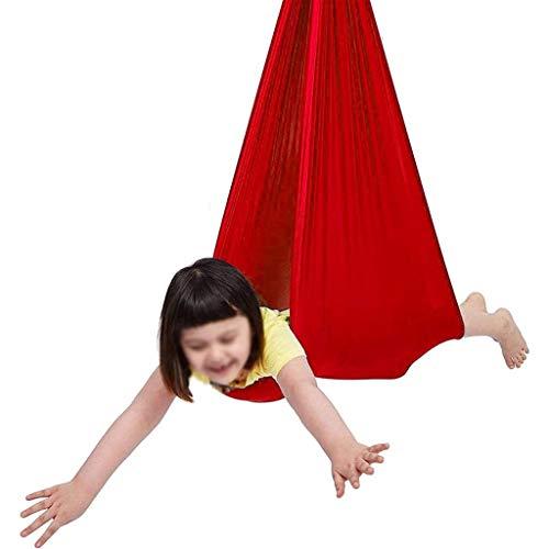 CWYP-MS Hamaca de Yoga aérea, Terapia Interior Swing Sensory para niños con Hardware de Montaje, Hamaca de abdondos Ajustables para Interiores y al Aire Libre para niños con Austism, TDAH, Asperger's