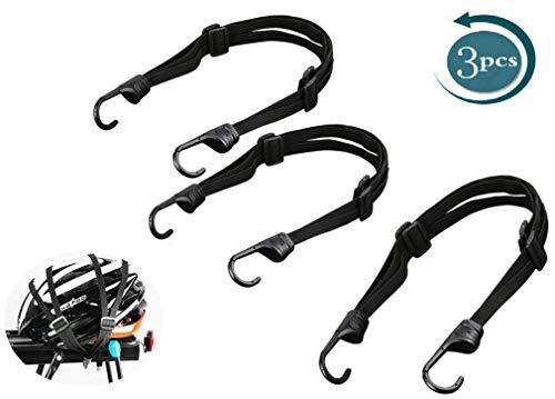 3 pcs Fahrrad Spanngurt Gepäckträger Verstellbar Spanngummi Spanngurt mit Haken für Motorradhelm, Fahrradgepäck,E