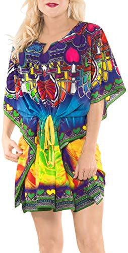 LA LEELA Abito Firmato Prendisole Beachwear Lettino delle Donne più di Occultamento del Bikini Multicolore