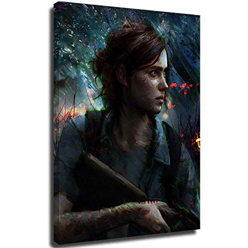 Ghychk The Last of Us Part II Art Paintings - Cuadro artístico (50,8 x 76,2 cm), diseño de juegos de aventura de Ellie y Joel