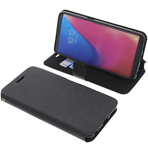 foto-kontor Tasche für Lenovo K5 PRO Book Style schwarz Schutz Hülle Buch