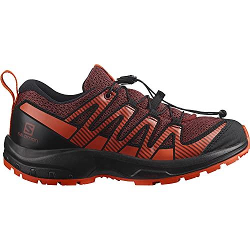 Salomon XA Pro V8 Kinder Trailrunning-Schuhe, Rot (Madder Brown/Black/Red Orange), 35 EU