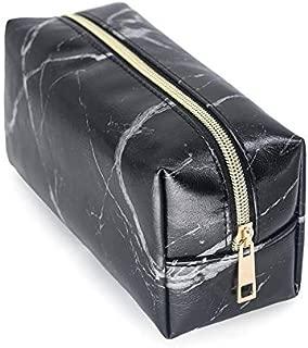 Icocol Portable Travel Makeup Bag Makeup Case Cosmetic Bag Girls Fashion Multifunction Makeup Brush Bag (Black)