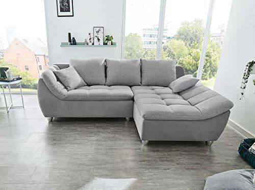 Lifestyle4living - Sofá de esquina con 3 cojines para la espalda y 2 cojines decorativos.