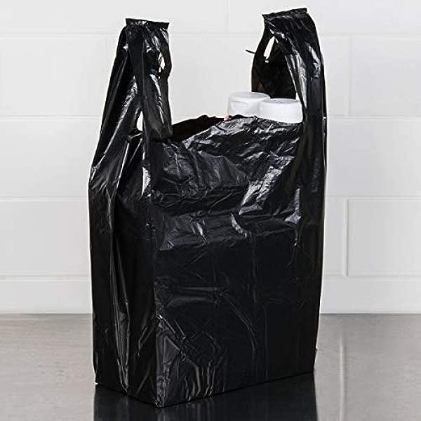 Carry Out Plastic Bag Black Plain T Shirt Bag 11 5 X6 5 X21 5 0 6 ML Black 300 Bags