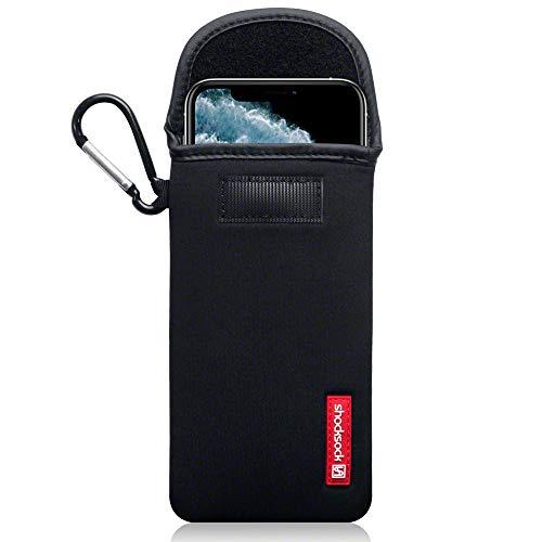 Shocksock Funda para iPhone 11 Pro MAX de Neopreno, Sistema de Cierre con Velcro - Negro