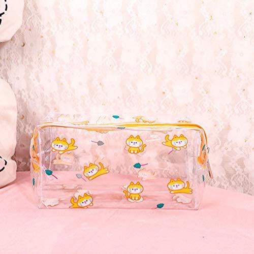 Doorzichtige make-uptas voor meisjes, transparante make-uptas van pvc voor vrouwen Waterdichte ritssluiting Beautycase Reistoilettassen Schattige ruime make-uptassen Waterdichte toilettas