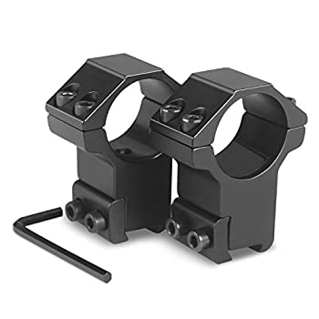 Modkin 1 Inch Dovetail Scope Rings High Profile Scope Mount for 11mm Dovetail Rails -2 Pieces  One has Stop pin