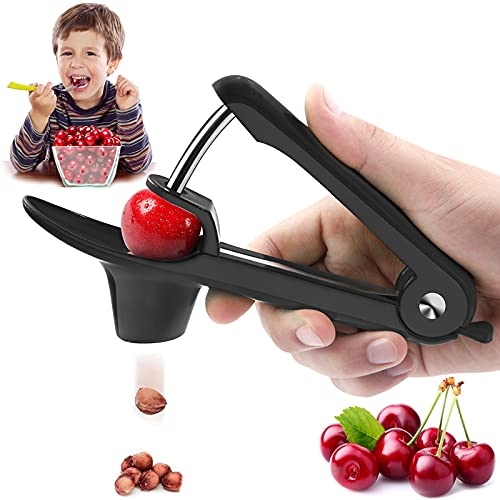 Cherry PitterCherry Seed Remover Olives Pitter Tool Cherries Corer Pitter Tool with SpaceSaving Lock DesignMultiFunction Fruit Pit Remover for Making Cherry Jam  Stainless Steel / HeavyDuty