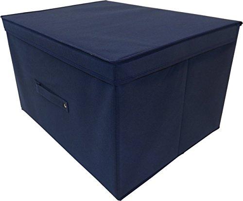 Neusu Starke Faltbare Aufbewahrungsbox Jumbo 60 Liter 50x40x30cm 1/pack Blau