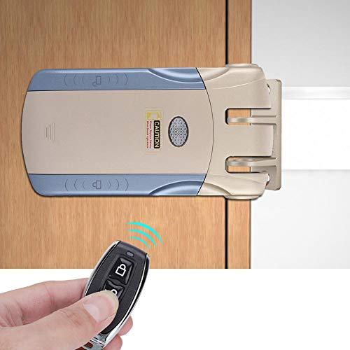 Cerradura de Puerta Inteligente, antirrobo Invisibles inalámbricos electrónicos Control Remoto sin Llave Control táctil Puerta de Entrada Sistema de Seguridad Cerrojos para la Oficina en el hogar(A)