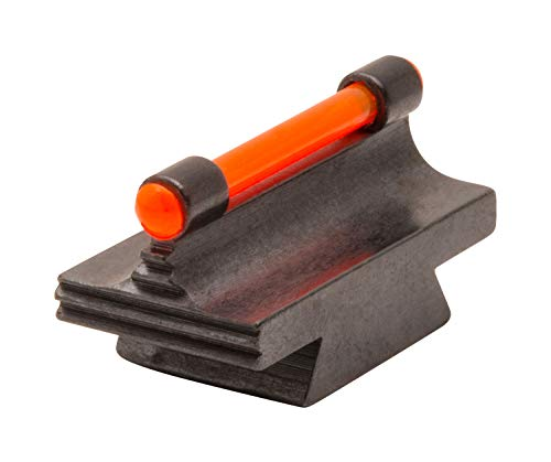 TRUGLO 3/8-Inch Dovetail Front Rifle Sight Replacement Fiber Optic Ramp Sight, Red.450'