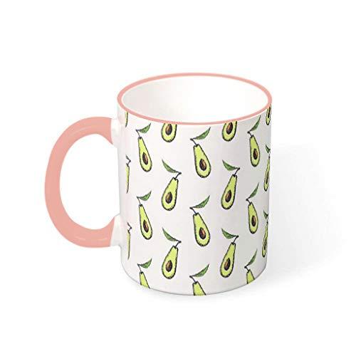 O2ECH-8 11 OZ Avocado Mischen Tee Mug mit Griff Hochwertige Keramik Fun Becher Tasse - Grün Männer Geschenke, Geeignet für Wohnheim verwenden vcbe 330ml