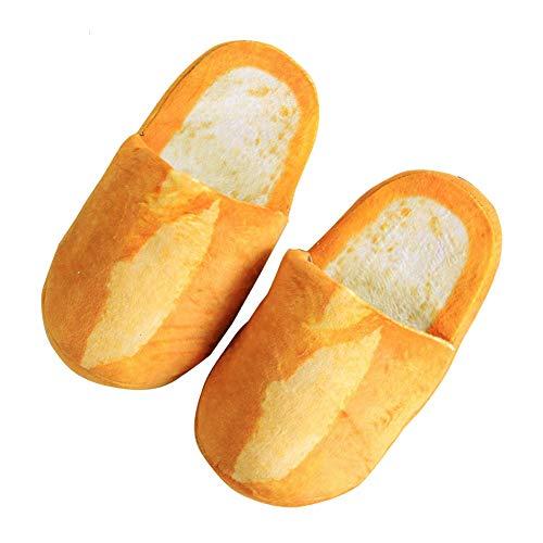 QIMITE Chausson en Coton - Amateurs De Pain 3D Pantoufles Adultes Plancher Intérieur Chaussures De Maison Chambre Chaud Doux Pantoufles Hommes Femmes Pantoufles Drôles, Baguette, M pour 35,38