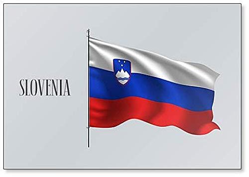 Slowenien-Flagge Illustration – Kühlschrankmagnet