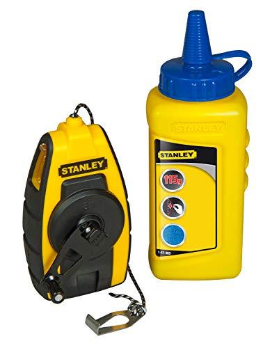 Stanley FatMax Schlagschnur Kompakt-Kit (115 g blaue Kreide, 9 m Schnurlänge, robustes Kunststoffgehäuse) STHT0-47244