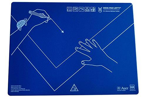 KUM AZ906.01.19 - Schreibtisch-Auflage Desk Pad Lefty, Linkshänder, 53 x 40 cm, Kunststoff, blau, 1 St.