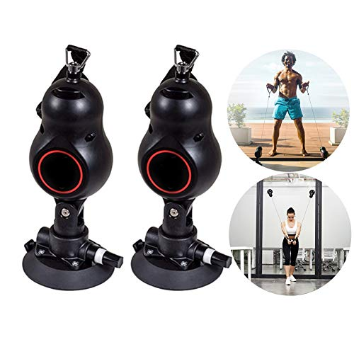 Weiming Faixa de resistência para exercícios em casa com alça, corda de puxar para exercícios fitness, comprimento da corda 1,9 m, 3 pontos de força, ventosa