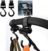Tobeape® 4 PCS Stroller Hook Set for Mommy, Multipurpose Stroller Clips 360 Degree Swivel Stroller Carabiner Hooks...