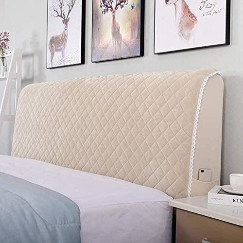 Patchwork Funda de cabecero de Cama Doble Acolchada de algodón, Forro elástico Blanco, Funda de cabecera con Todo Incluido Funda Decorativa para Dormitorio (Color: Rosa, Tamaño: 120X75cm)