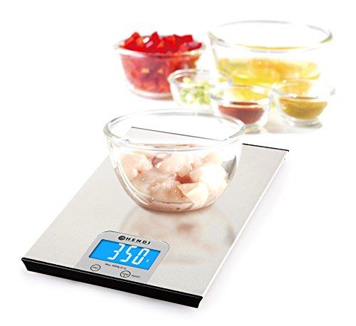 HENDI Keuken weegschaal - 0-5 kg - 200x151x(H)11 mm