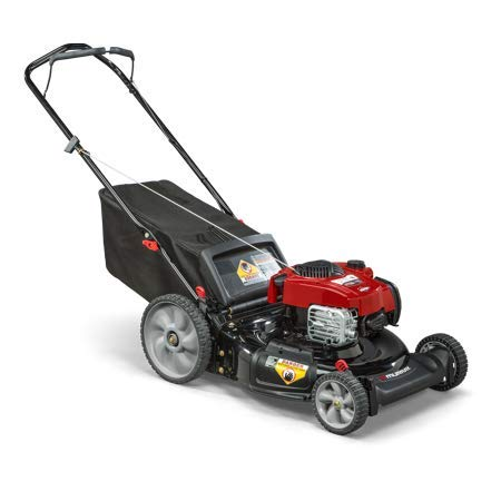 Murray 21' Gas Push Lawn Mower with Side Discharge, Mulching, Rear Bag, High Wheel and Briggs & Stratton 150cc OHV 625ex Series Engine