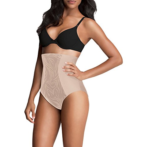 Maidenform Flexees Ultra Firm Control, Value Shapewear Hicut Brief 83061 (Small) (Small) Nude