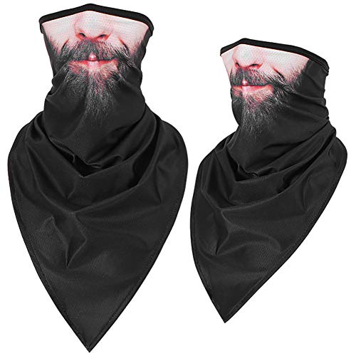 ZED- Multifunctional Scarf Bandana Neck Scarf Head Scarf - Microfibre Face Shield - Material is Flexible and Breathable - Mask for Motorcycle, Cycling and Skiing