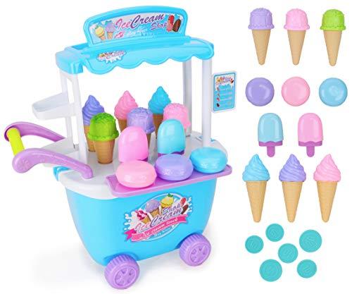 Toyland® 36-Delige Duwende Ijssalon - Doe Alsof Speelsets