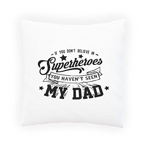 INNOGLEN Superheroes My Dad Decorative Pillow, Cushion cover with Insert or Without s255p