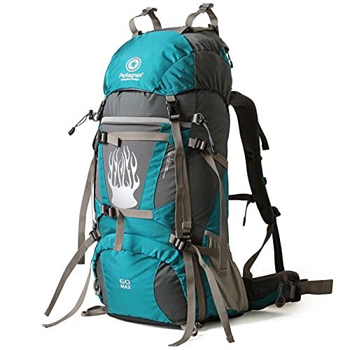 Mochila de Alpinismo Mochila de trekking Ultraligera Mochila Plegable de Senderismo Excursión Deportes al Aire Libre/Bolsa de Viaje,Nylon Impermeable para Acampar Escalada Correr Ciclismo,60L,50L