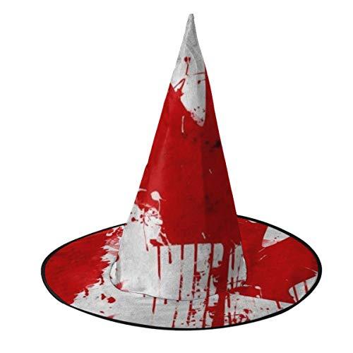 Hexenhut mit Kanada-Flagge, Halloween-Kostüm, Cosplay, böse Hexe, Zubehör für Kinder und Erwachsene