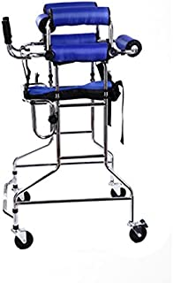 Walkers Lxn Standing Walk Stand Walk Aid/Stand Frame with Seat Wheel Rehabilitation Device Folding Height Adjustable Old Man